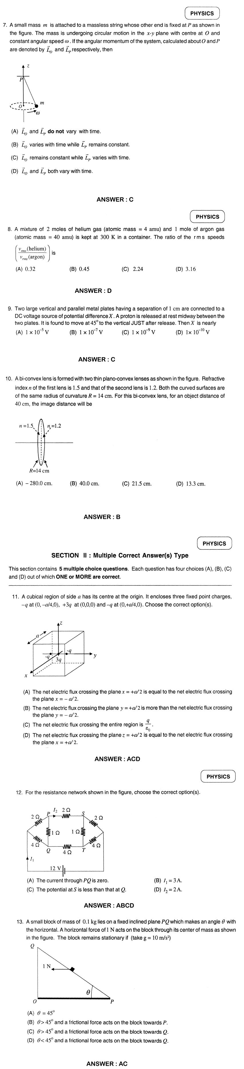 IIT JEE 2012 Question Papers & Answers   Paper 1   jee advanced  Image