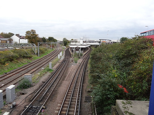 Tracks into Willesden Junction