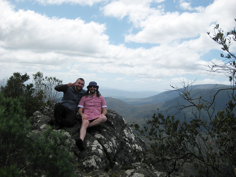 Neil & Brian at Sugarloaf Peak - Cathedral Range State Park - Buxton - Victoria