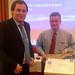 Mike Heuer hands over the FAI Air Sport Medal to Vladimir Machula (CZE)