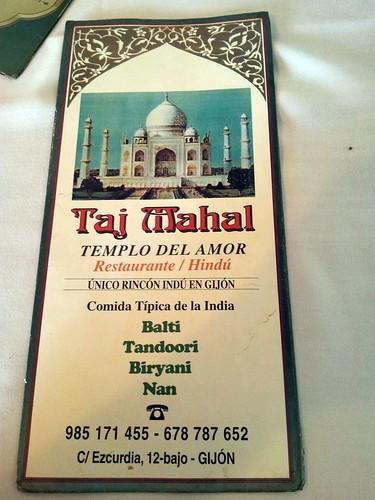Gijón | Taj Mahal | Carta