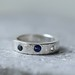 sapphire and moonstone ring by SilverBlueberry