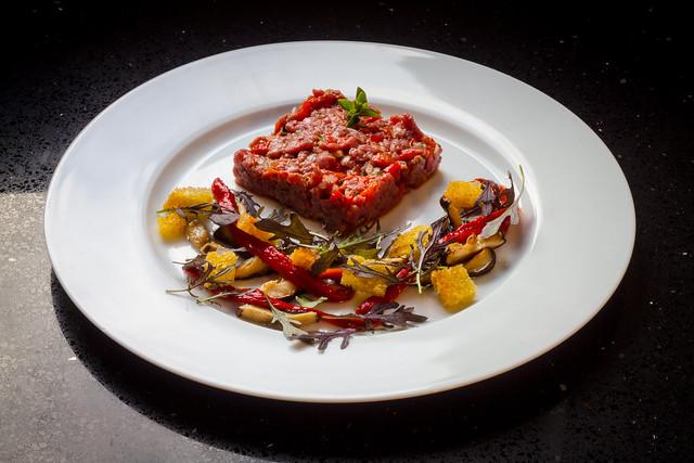 Chimichurri style steak tartare