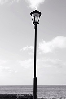 Flooded lamp post