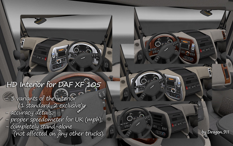 HD Interior for DAF XF105 - SCS Software