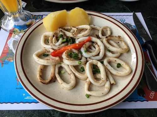 Panama City: assiette de calamars à la plancha