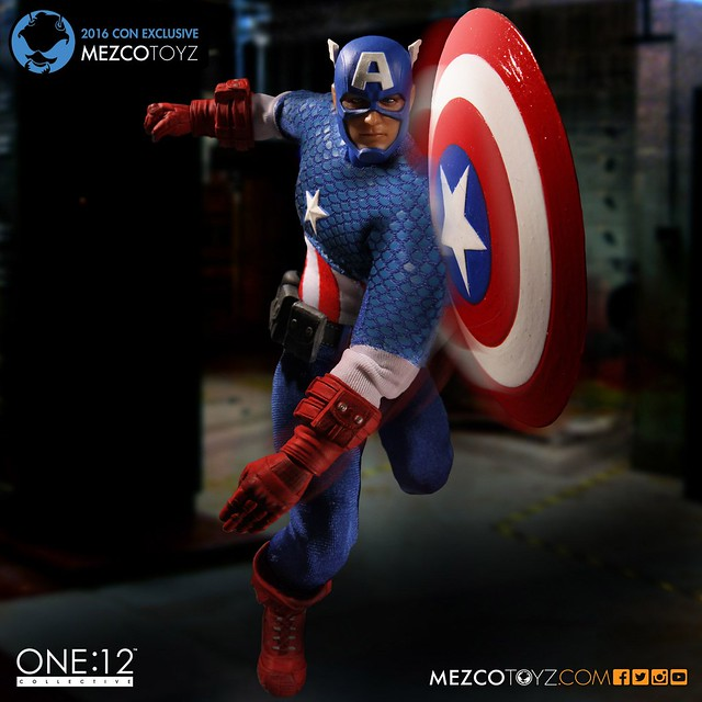 MEZCO – ONE:12 COLLECTIVE 系列【經典美國隊長】Captain America 2016 展覽限定
