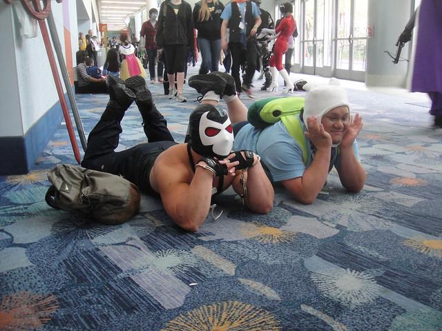 WonderCon 2012 - Bane and Finn...just chillin'