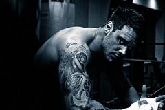 [フリー画像素材] 人物, 男性, モノクロ, 刺青・タトゥー ID:201204151600