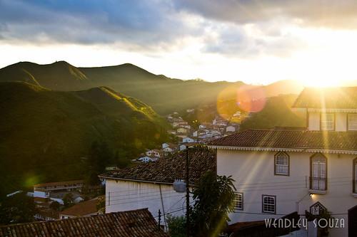 Pôr do sol em Ouro Preto - MG
