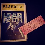 Seeing Leap of Faith on #broadway.