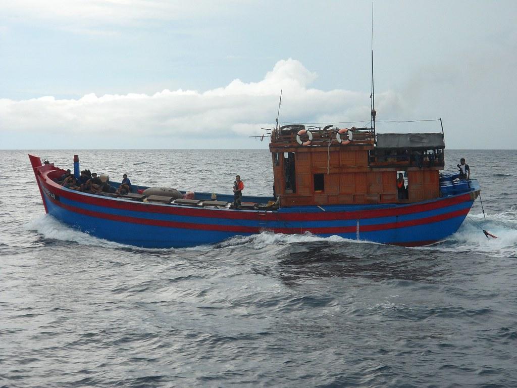 Vietnamese fishermen arrested in Jolo on April 25, 2012