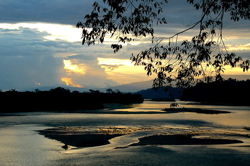 sunset water river ecuador platinumheartaward naposriver