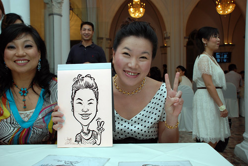 caricature live sketching for Intel Mobile Communications Year-End celebrations - 4