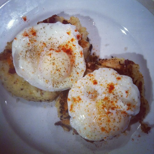 What to do with Kimchi? Poached Eggs with Kimchi and Potato Cakes (Recipe) Potato Kimchi goodpic Egg Cooking Recipes