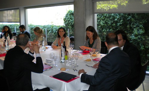 Carles Sumarroca, en un encuentro con empresas TIC de Barcelona