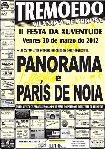 Vilanova de Arousa 2012 - II Festa da Xuventude de Tremoedo - cartel