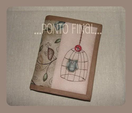 ...Capinha para caderneta... by Ponto Final - Patchwork