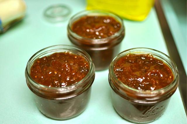 chutney in jars