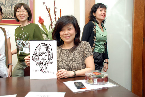 Caricature live sketching for Marks & Clerk Singapore LLP Christmas Party - 1