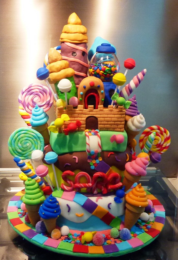candyland castle cake - a photo on Flickriver