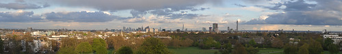 London panorama from Primrose Hill