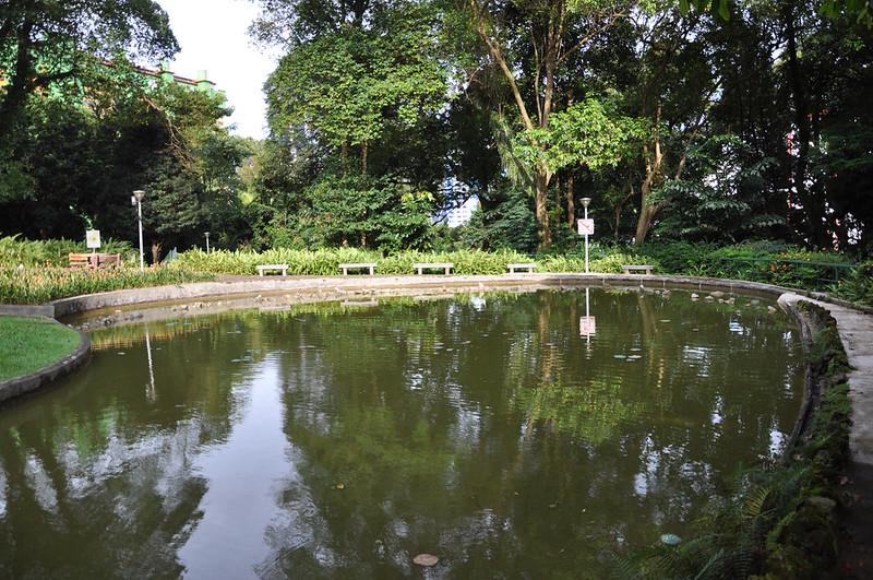 Парк в жилом квартале Сингапура