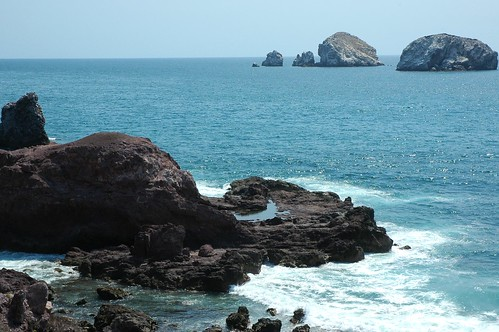 All that was left was a happy blue smile,  rock, waves, islands, Pacific Ocean, South Mazatlan, Mexico by Wonderlane