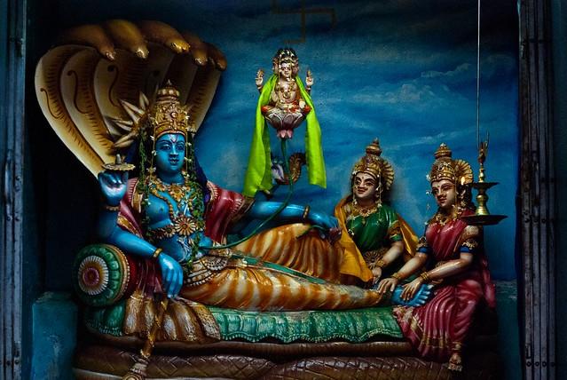 Inside Aluvihara Hindu...