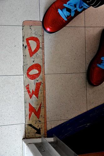 Inlaid Linoleum - Towards the Lower Level