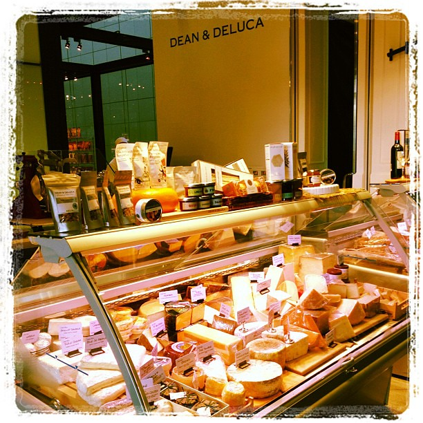 The cheese and charcuterie counters are placed upfront to entice customers