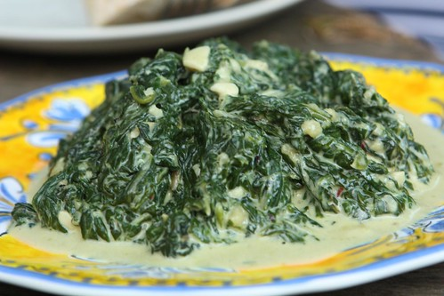 Creamed Chard and Spinach