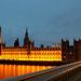 Houses of Parliament by night by Maisy Mouse