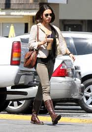 Mila Kunis Tweed Jacket Celebrity Style Women's Fashion
