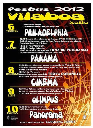 Culleredo 2012 - Festas de Vilaboa - cartel