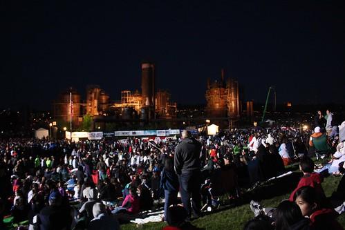 Fireworks at Seattle's Gasworks Park