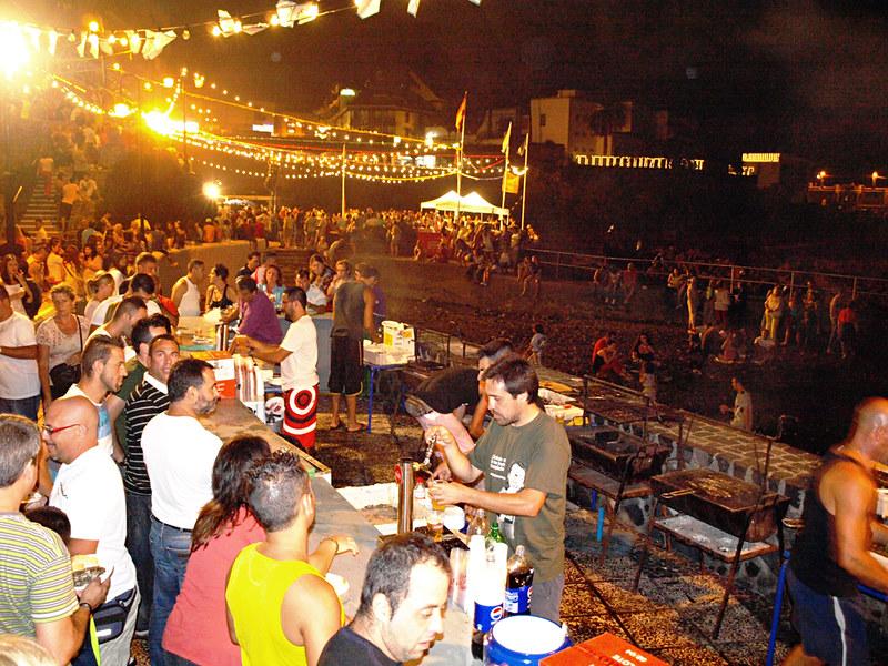 La Sardinada at Fiestas del Carmen, Puerto de la Cruz, Tenerife