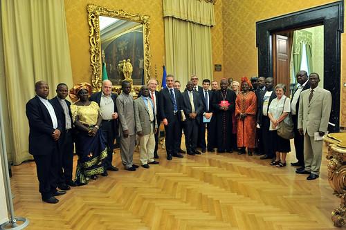 Visita alla Camera della delegazione dalla Nigeria con Mons. Ignatius Kaigama