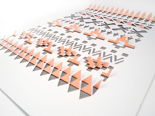 Papercut Geometric Aztec Design