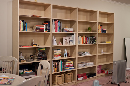 Sneak peak of the bookcases