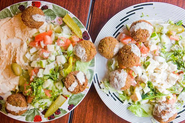 Falafel platters, Za'atar