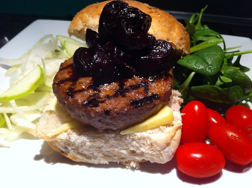 Wagyu Burger with Homemade Beetroot Relish by mjd-s