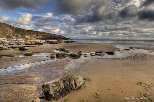 uk sunset sea sky moon beach wales canon sand rocks tide pools 09 lee 1740 dunraven giottos explored 3stop heritagecoast dunravenbay leefilters ndgrads 5dmk11 stevechatman