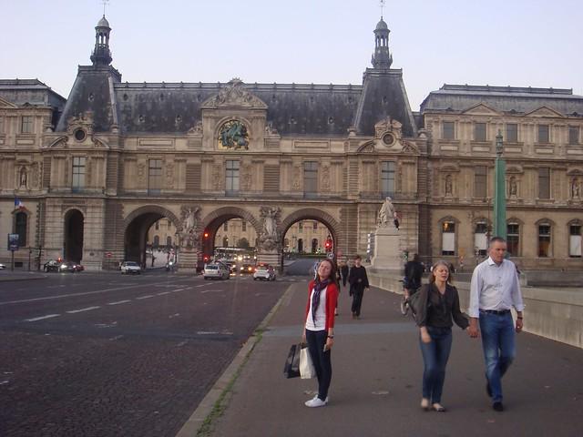 Pont du Carrousel leading to the Denon Wing of the Louvre, Paris