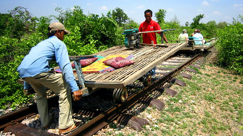 "Norry ""Bamboo"" Train - Battambang, Cambodia"