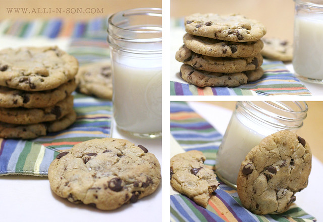 Sea Salt and Browned Butter Chocolate Chip Cookies Recipe by www.alli-n-son.com