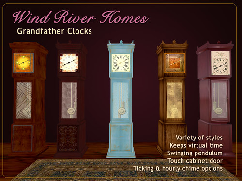 Grandfather Clocks by Teal Freenote