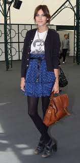 Alexa Chung Graphic Tshirt Celebrity Style Women's Fashion