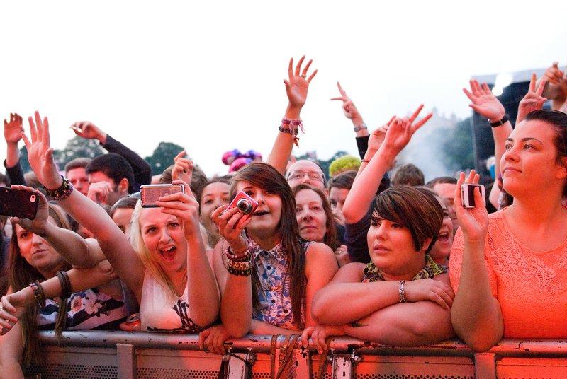 Dizzee Rascal fans @ Splendour Festival 2012