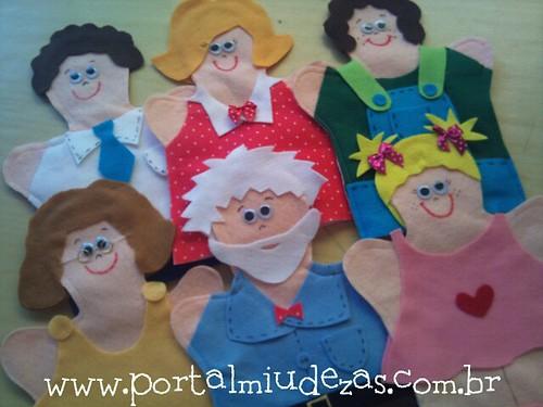 Fantoches Família Terapêutica by miudezas_miudezas